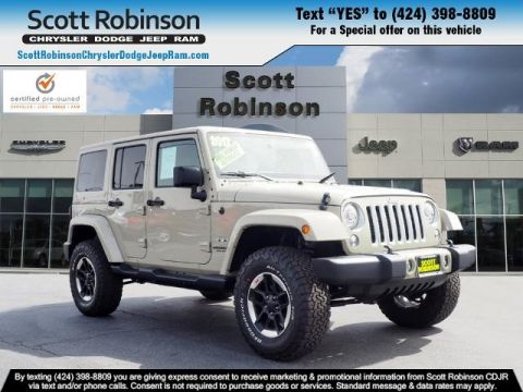 Pre-Owned 2017 Jeep Wrangler Unlimited Sahara 4D Sport Utility