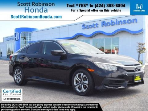 Certified Pre-Owned 2017 Honda Civic LX 4D Sedan